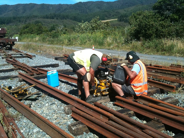 cutting and drilling closer rails