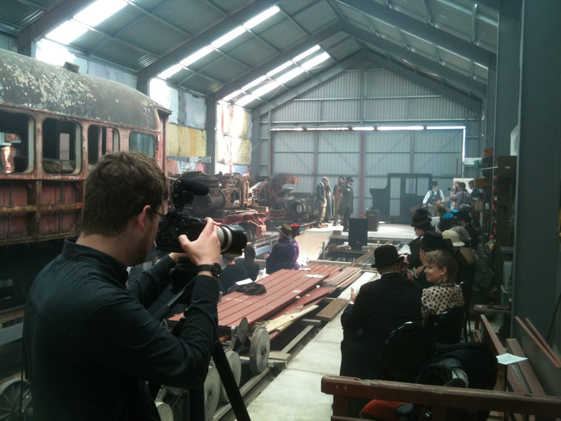 Steam punk wedding hosted within the rail vehicle shed 24 October 2015