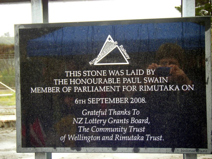 This stone was laid by the Honourable Paul Swain Member of Parliament for Rimutaka on 6th September 2008.
