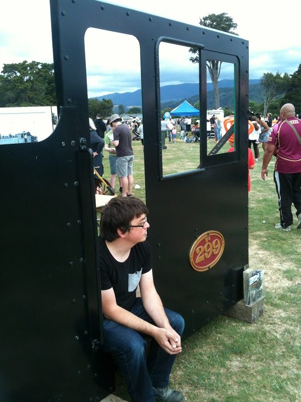 Ben takes a quick break at the Summer Carnival later in the day...