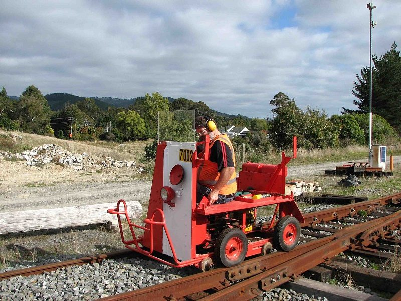 Ray takes the trolley through its paces