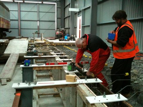Peter and Ray assembling formwork