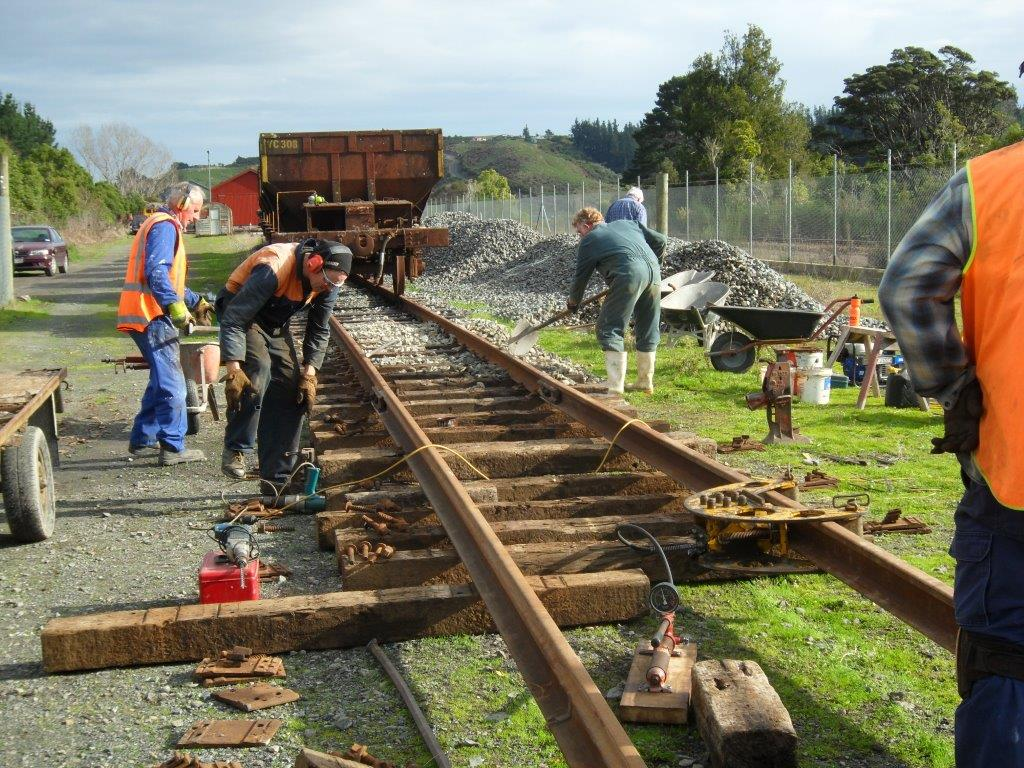 Volunteers extending our mainline at Maymorn