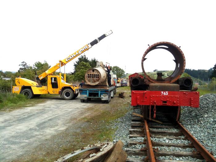 Ab745 arrives at Maymorn | Rimutaka Incline Railway