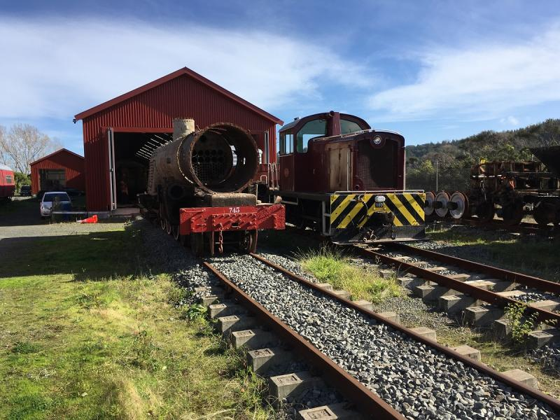 Ab 745 and Tr 189 outside the rail vehicle shed.