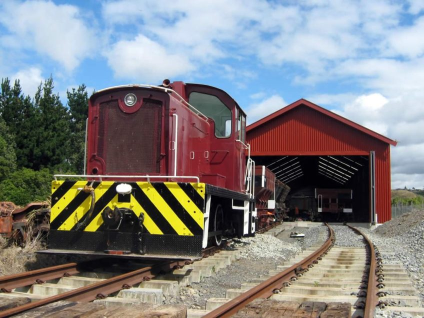 Tr189 on shed at Maymorn, during commissioning tests.
