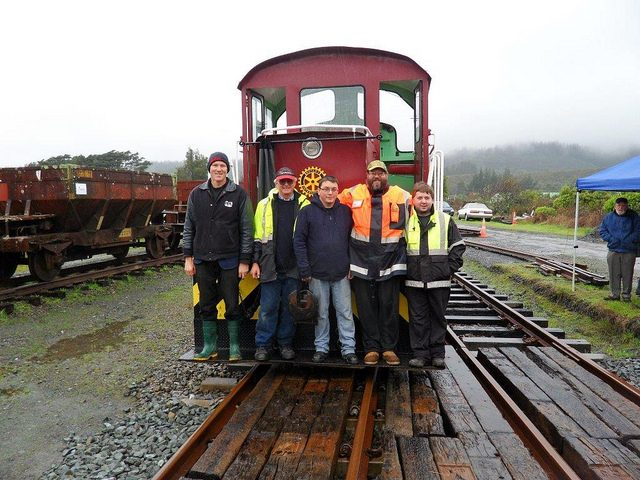 Members of the team present on the day who brought Tr 189 back into operation pause for a photo.
