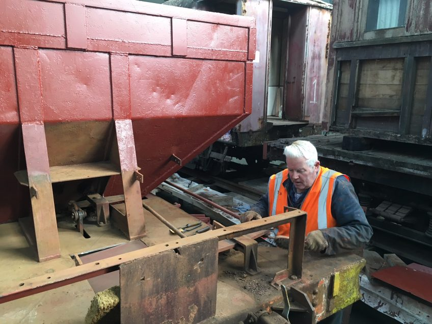 Ron Jones working on next ballast wagon