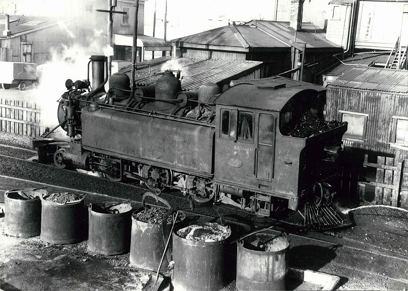 Wb 299 at Westport loco depot in November 1951