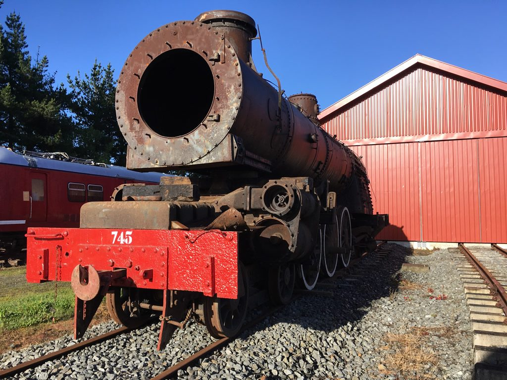 Ab 745 on shed at Maymorn, 14 October 2017